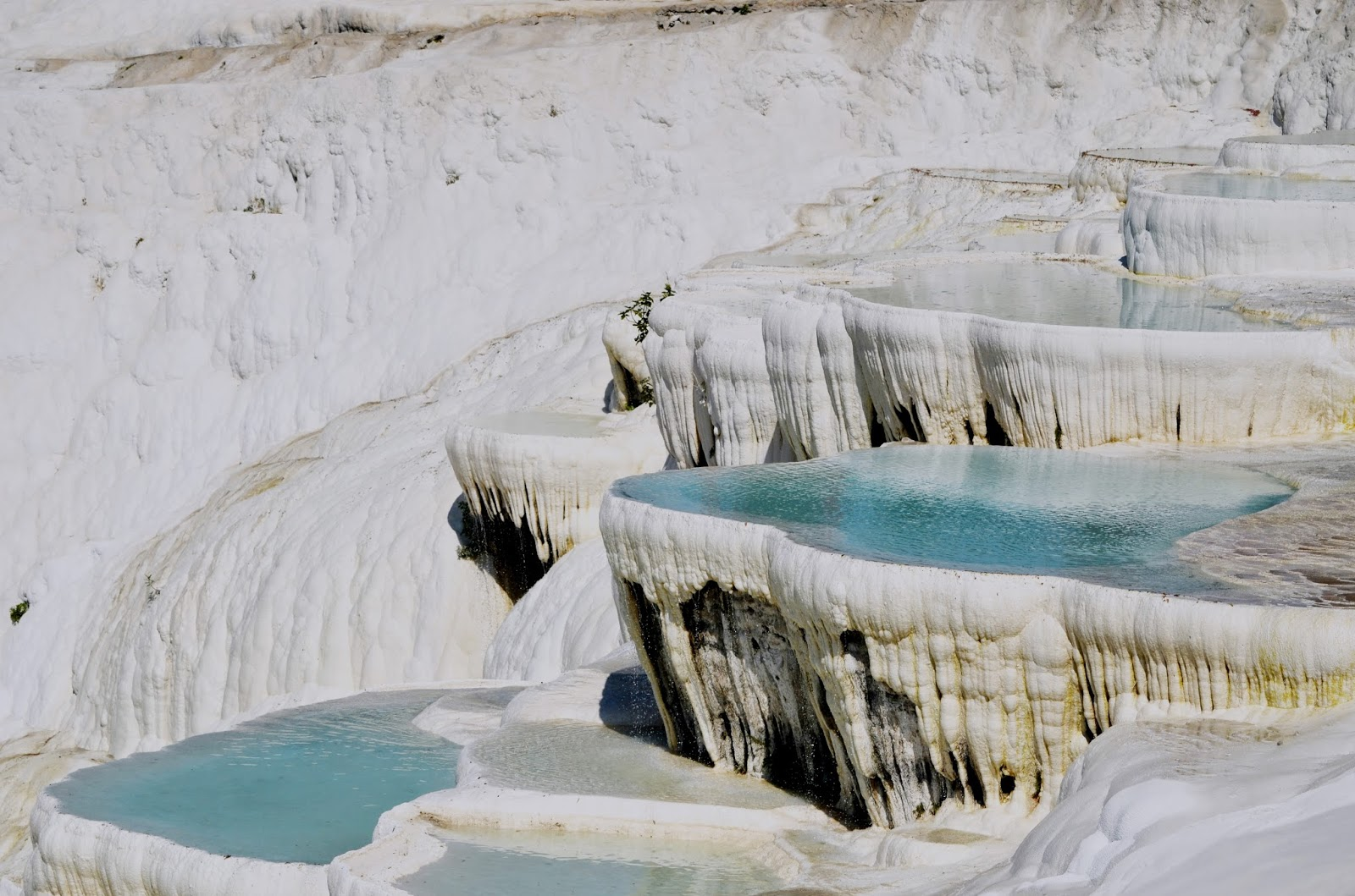 Cotton castles and travertines of Pamukkale  Turkey ...